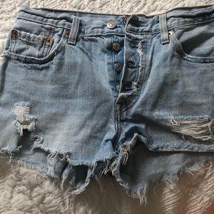 Levi women's denim shorts